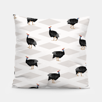 Thumbnail image of Guinea Foul Pattern Pillow, Live Heroes