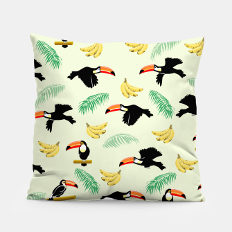 Thumbnail image of Toucan Tropical Bird Pattern Pillow, Live Heroes