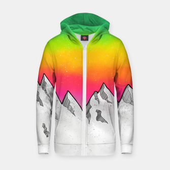 Mountain Scene Zip up hoodie Bild der Miniatur