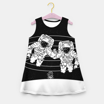 Thumbnail image of Gemini twins astronauts Girl's summer dress, Live Heroes