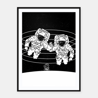 Thumbnail image of Gemini twins astronauts Framed poster, Live Heroes