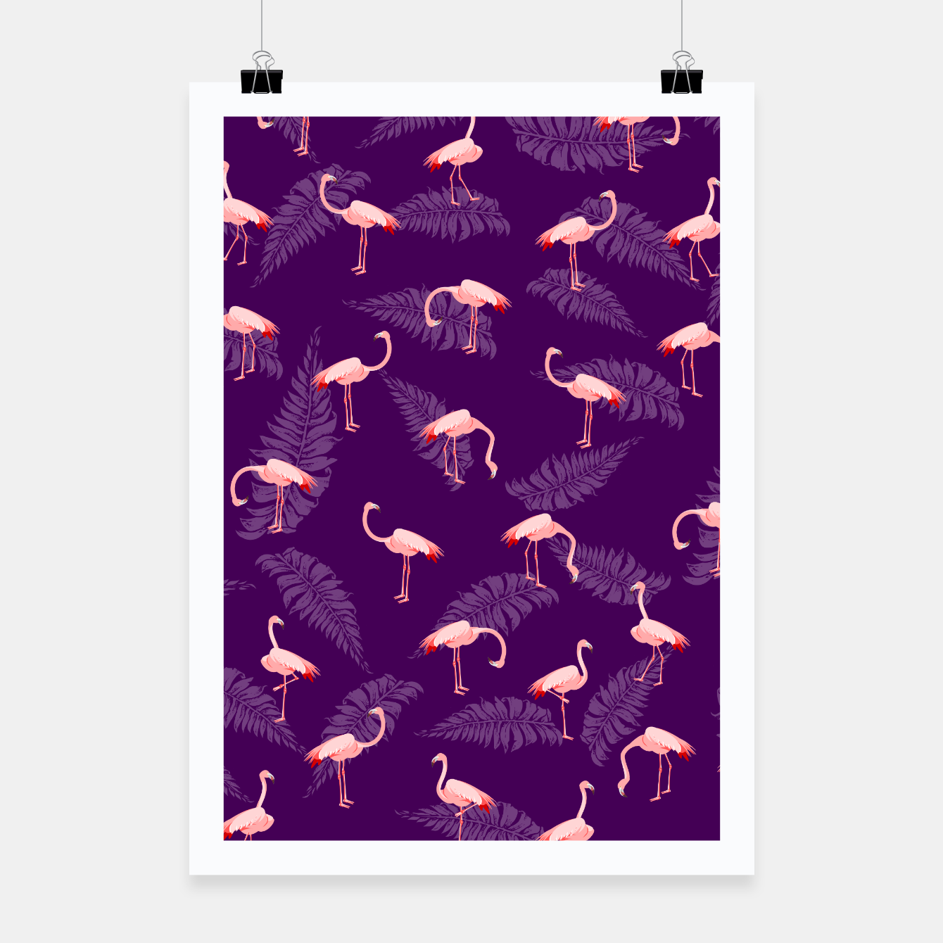 Image of Pink Flamingo Pattern Poster - Live Heroes