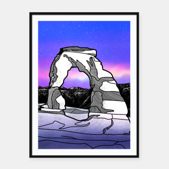 Miniatur Delicate Arch Framed poster, Live Heroes