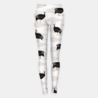 Thumbnail image of Guinea Foul Pattern Leggings, Live Heroes