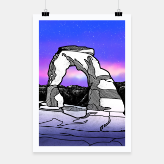 Miniatur Delicate Arch Poster, Live Heroes