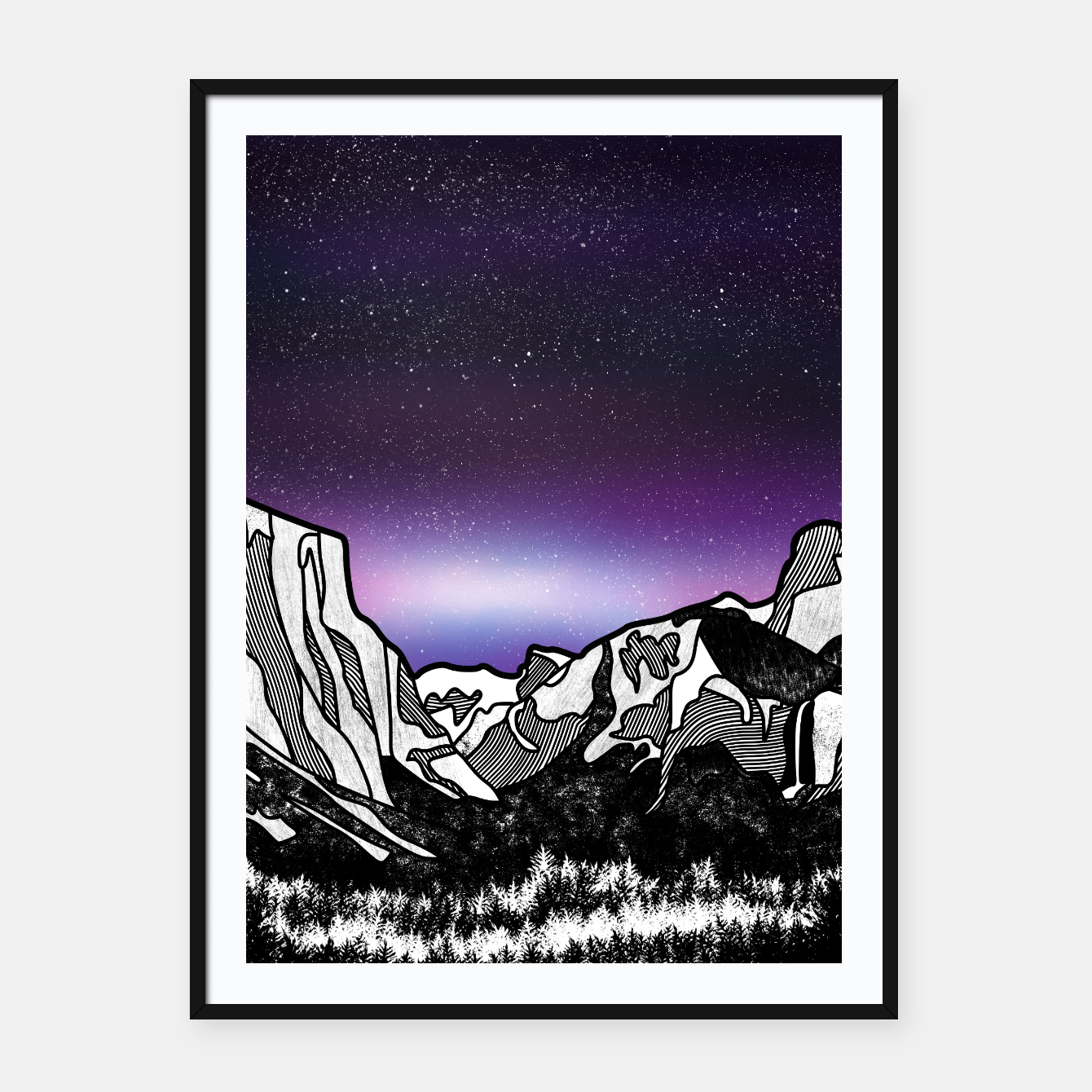 Foto Yosemite Valley Framed poster - Live Heroes