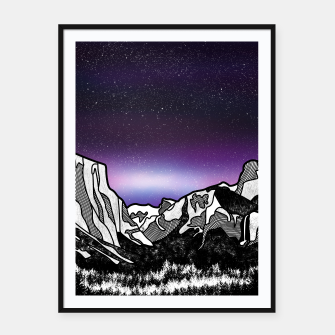 Thumbnail image of Yosemite Valley Framed poster, Live Heroes