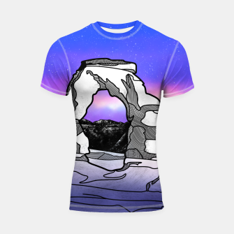 Miniatur Delicate Arch Shortsleeve rashguard, Live Heroes