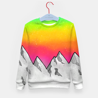 Thumbnail image of Mountain Scene Kid's sweater, Live Heroes