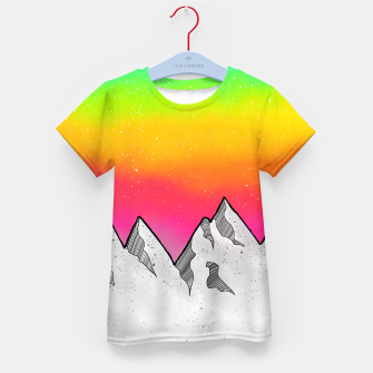 Mountain Scene Kid's t-shirt Bild der Miniatur