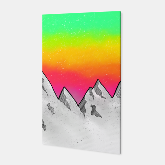 Miniatur Mountain Scene Canvas, Live Heroes