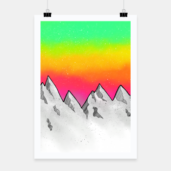 Miniatur Mountain Scene Poster, Live Heroes