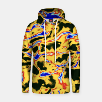 Thumbnail image of Yellow and black pattern Hoodie, Live Heroes