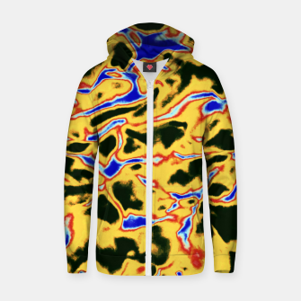 Thumbnail image of Yellow and black pattern Zip up hoodie, Live Heroes