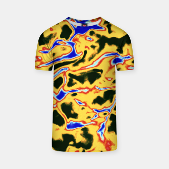 Thumbnail image of Yellow and black pattern T-shirt, Live Heroes