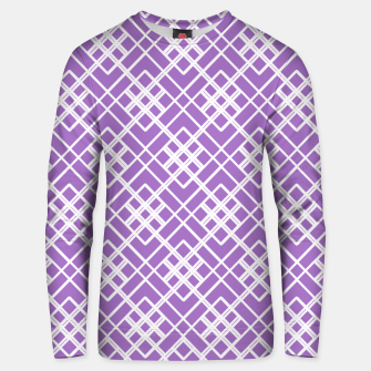 Thumbnail image of Abstract geometric pattern - purple and white. Unisex sweater, Live Heroes
