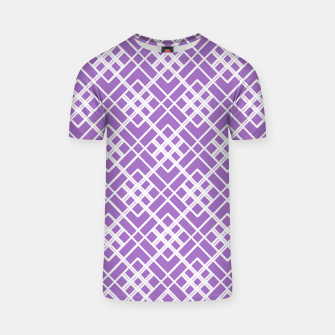 Thumbnail image of Abstract geometric pattern - purple and white. T-shirt, Live Heroes