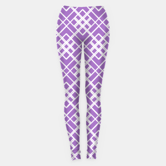 Thumbnail image of Abstract geometric pattern - purple and white. Leggings, Live Heroes