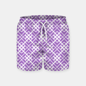 Thumbnail image of Abstract geometric pattern - purple and white. Swim Shorts, Live Heroes