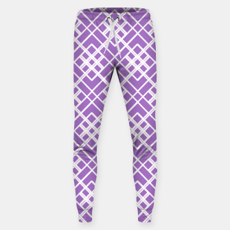 Thumbnail image of Abstract geometric pattern - purple and white. Sweatpants, Live Heroes