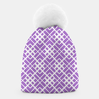 Thumbnail image of Abstract geometric pattern - purple and white. Beanie, Live Heroes