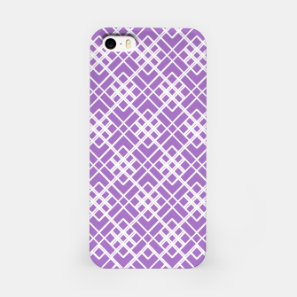Thumbnail image of Abstract geometric pattern - purple and white. iPhone Case, Live Heroes
