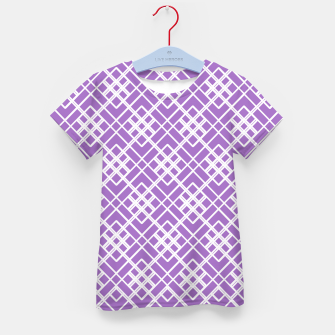 Thumbnail image of Abstract geometric pattern - purple and white. Kid's t-shirt, Live Heroes