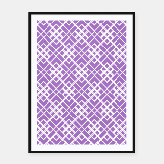Miniatur Abstract geometric pattern - purple and white. Framed poster, Live Heroes