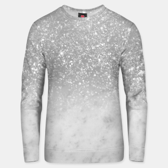 Thumbnail image of White Marble Silver Ombre Glitter Glam #1 #shiny #gem #decor #art  Unisex sweatshirt, Live Heroes