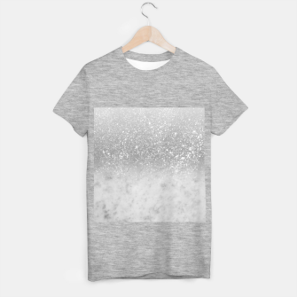Thumbnail image of White Marble Silver Ombre Glitter Glam #1 #shiny #gem #decor #art  T-Shirt regulär, Live Heroes