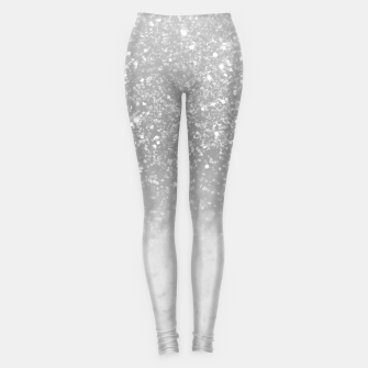 Thumbnail image of White Marble Silver Ombre Glitter Glam #1 #shiny #gem #decor #art  Leggings, Live Heroes