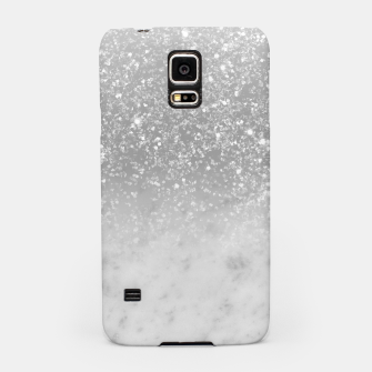 Thumbnail image of White Marble Silver Ombre Glitter Glam #1 #shiny #gem #decor #art  Handyhülle für Samsung, Live Heroes