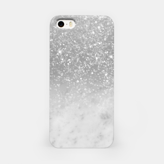 Thumbnail image of White Marble Silver Ombre Glitter Glam #1 #shiny #gem #decor #art  iPhone-Hülle, Live Heroes