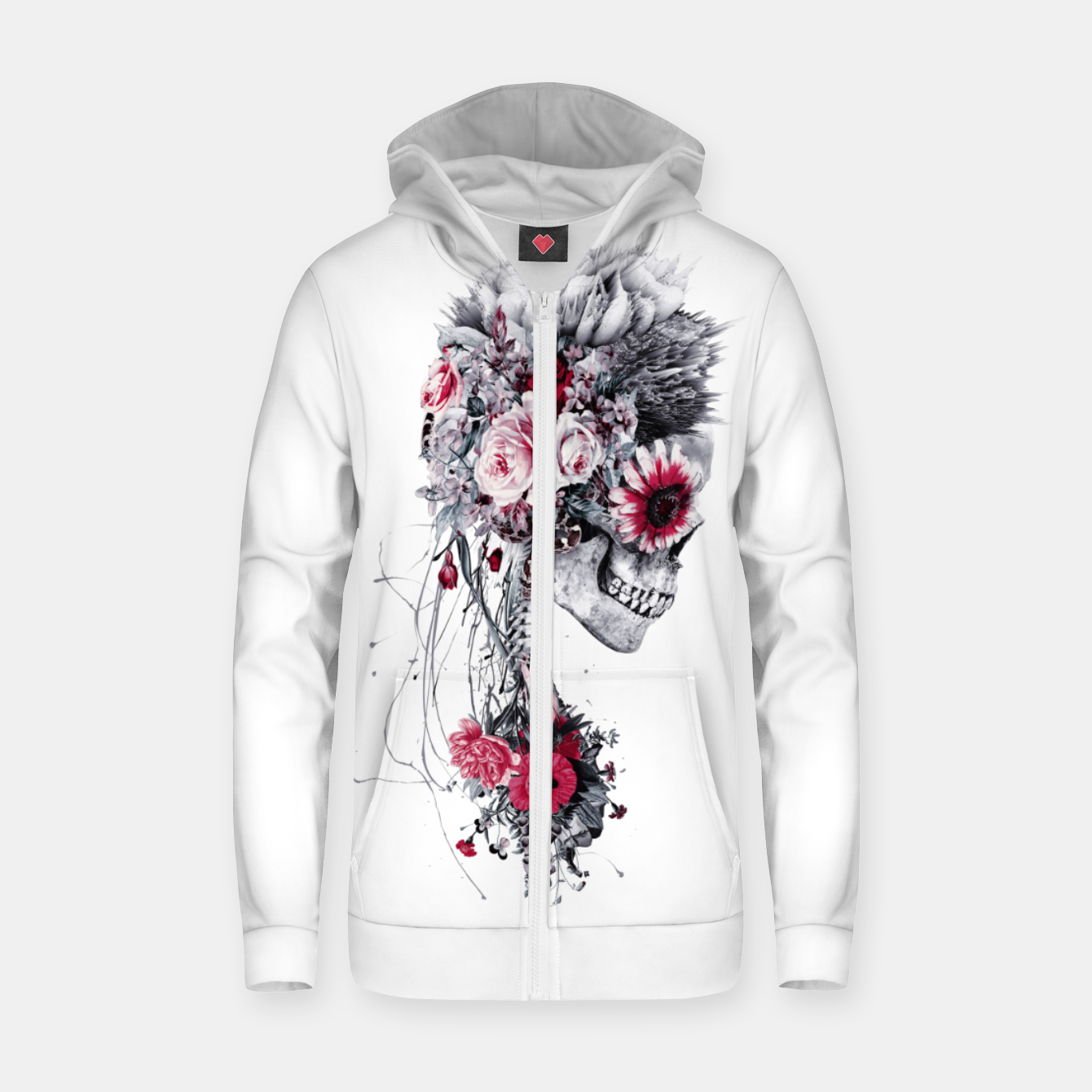 Image de Skeleton Bride Zip up hoodie - Live Heroes