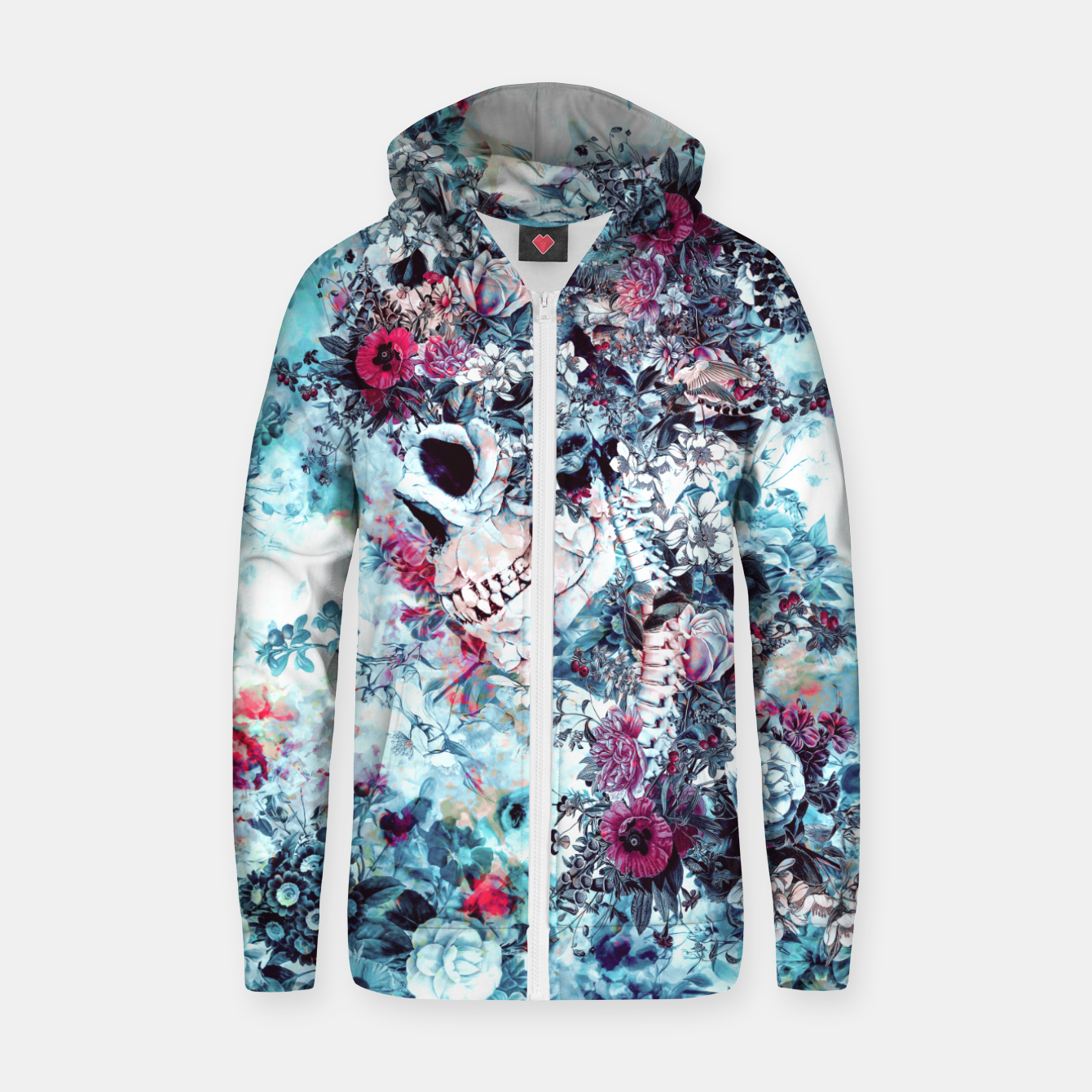 Image of Skull Queen II Zip up hoodie - Live Heroes