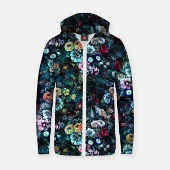 Night Garden Zip up hoodie thumbnail image