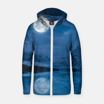 Thumbnail image of Winter Is Here - Cold Moon Zip up hoodie, Live Heroes