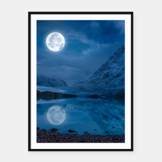 Miniatur Winter Is Here - Cold Moon Framed poster, Live Heroes