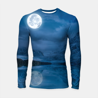 Thumbnail image of Winter Is Here - Cold Moon Longsleeve rashguard , Live Heroes