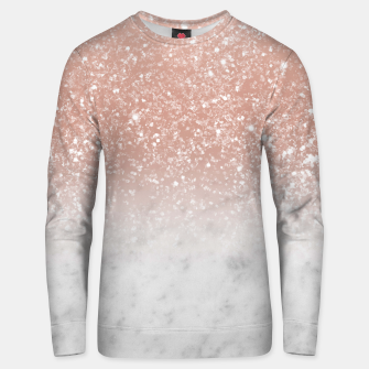 Thumbnail image of White Marble Rose Gold Ombre Glitter Glam #1 #shiny #gem #decor #art  Unisex sweatshirt, Live Heroes