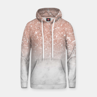 Thumbnail image of White Marble Rose Gold Ombre Glitter Glam #1 #shiny #gem #decor #art  Kapuzenpullover, Live Heroes