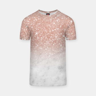 Thumbnail image of White Marble Rose Gold Ombre Glitter Glam #1 #shiny #gem #decor #art  T-Shirt, Live Heroes