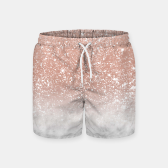 Thumbnail image of White Marble Rose Gold Ombre Glitter Glam #1 #shiny #gem #decor #art  Badeshorts, Live Heroes