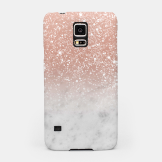 Thumbnail image of White Marble Rose Gold Ombre Glitter Glam #1 #shiny #gem #decor #art  Handyhülle für Samsung, Live Heroes