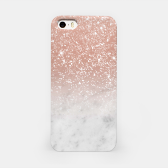Thumbnail image of White Marble Rose Gold Ombre Glitter Glam #1 #shiny #gem #decor #art  iPhone-Hülle, Live Heroes