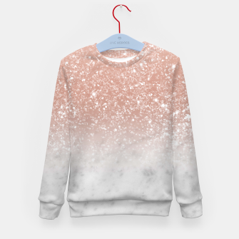 Thumbnail image of White Marble Rose Gold Ombre Glitter Glam #1 #shiny #gem #decor #art  Kindersweatshirt, Live Heroes