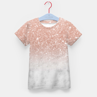 Thumbnail image of White Marble Rose Gold Ombre Glitter Glam #1 #shiny #gem #decor #art  T-Shirt für kinder, Live Heroes