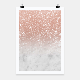 Thumbnail image of White Marble Rose Gold Ombre Glitter Glam #1 #shiny #gem #decor #art  Plakat, Live Heroes