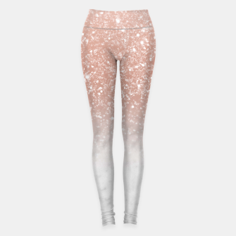 Thumbnail image of White Marble Rose Gold Ombre Glitter Glam #1 #shiny #gem #decor #art  Leggings, Live Heroes