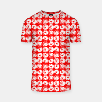 Miniatur Round brush strokes on red T-shirt, Live Heroes
